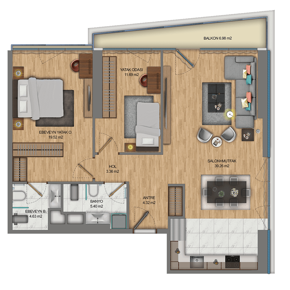 Apollo Residence FLoor Plan - Turkey Property Investment